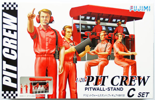 Fujimi GT25 113326 Pit Crew Set C (Pitwall - Stand) 1/20 Scale Kit (GARAGE & TOOL SERIES No.25)