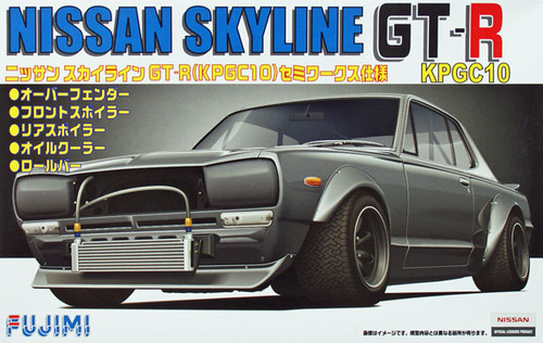 Fujimi ID-163 Nissan Skyline GT-R KPGC10 Semi Works 1/24 Scale Kit