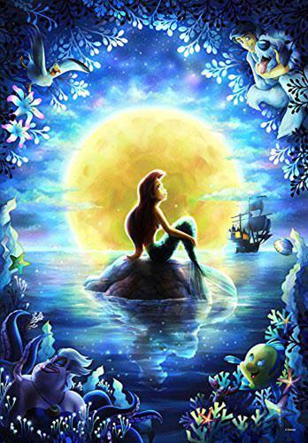 Tenyo Japan Jigsaw Puzzle DPG-500-596 Disney The Little Mermaid (500 S-Pieces)