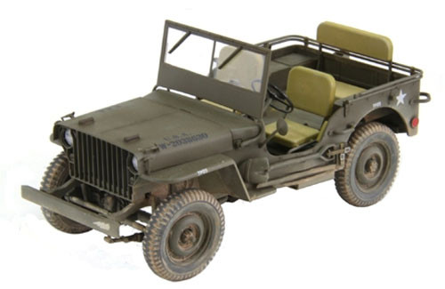 Fine Molds 82001 U.S. Army 1/4-Ton 4x4 Truck (Slat Grille) 1/20 Scale Kit