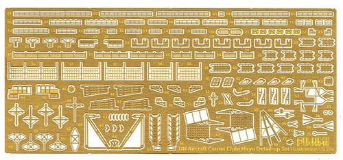 Fujimi TK 115252 Photo Etched Parts for Chibi-maru IJN Aircraft Carrier Hiryu