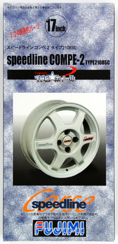 Fujimi TW68 speedline COMPE-2 Wheel & Tire Set 17 inch 1/24 Scale Kit