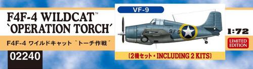 "Hasegawa 02240 F4F-4 Wildcat ""Operation Torch"" 1/72 scale kit"