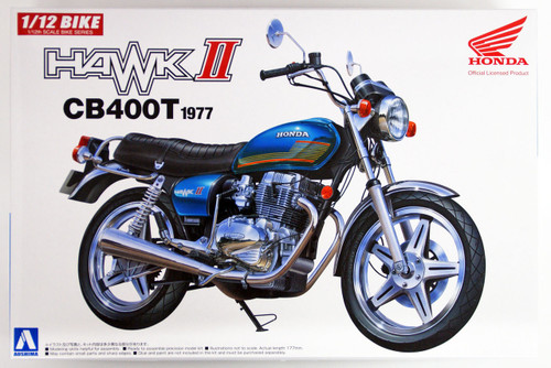 Aoshima Bike 38 Honda Hawk II CB400T 1977 1/12 scale kit