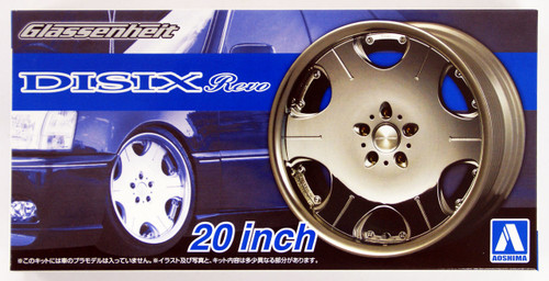 Aoshima 53737 Tuned Parts 40 1/24 Glassenheit Disix Revo 20inch Tire & Wheel Set