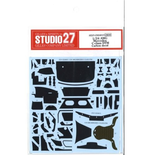 Studio27 ST27-CD24015 AMG Mercedes C-class DTM Carbon Decal Set for Tamiya 1/24