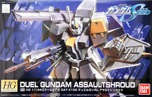 Bandai R02 DUEL Gundam ASSAULTSHROUD 1/144 Scale Kit (HG Gundam Seed)