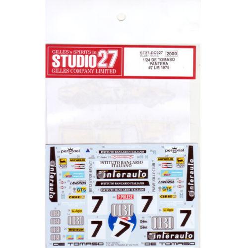 Studio27 ST27-DC927 De Tomaso Pantera #7 LM 1975 for Fujimi 1/24