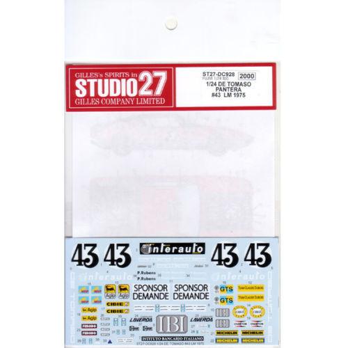Studio27 ST27-DC928 De Tomaso Pantera #43 LM 1975 for Fujimi 1/24