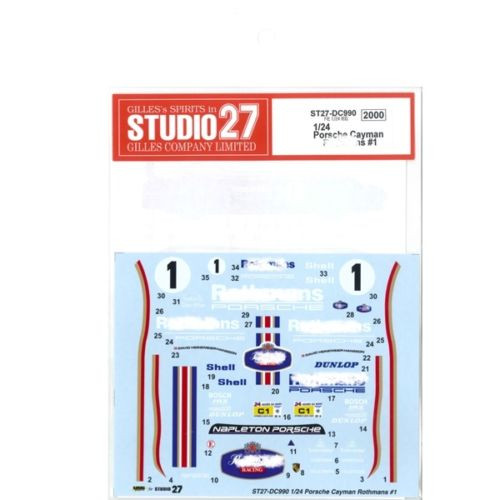 Studio27 ST27-DC990 Porsche Cayman Rothmans #1 for Fujimi 1/24