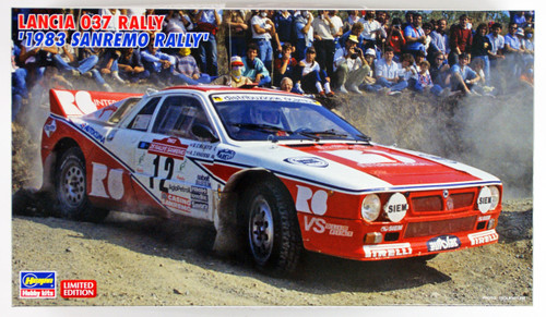 "Hasegawa 20299 Lancia 037 Rally ""1983 Sanremo Rally"" 1/24 scale kit"