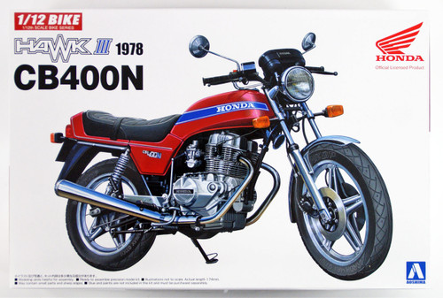 Aoshima 53942 Bike 40 HONDA HAWKIII CB400N 1/12 scale kit