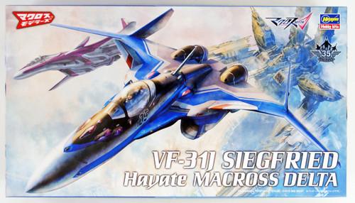 "Hasegawa Macross 29 VF-31 Siegfried Hayate Custom ""Macross Delta"" 1/72 scale kit"