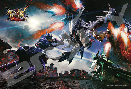 Ensky Jigsaw Puzzle 300-1193 Monster Hunter XX Sky Comet Dragon Barufaruku Valfalk (300 Pieces)
