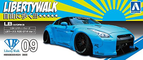 Aoshima 54024 LB-Works GT-R Ver.1 1/24 scale kit