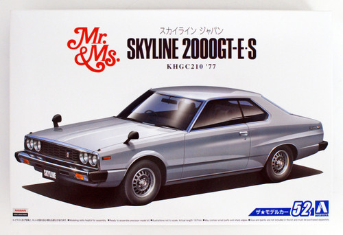 Aoshima 53522 The Model Car 52 NISSAN KHGC210 Skyline HT2000GT-ES '77 1/24 Scale Kit