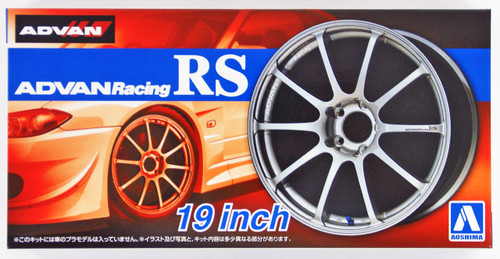Aoshima 53782 Tuned Parts 45 1/24 ADVAN RACING RS 19inch Tire & Wheel Set