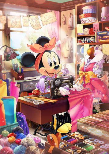 Tenyo Japan Jigsaw Puzzle D-500-475 Disney Tailor Minnie Mouse (500 Pieces)