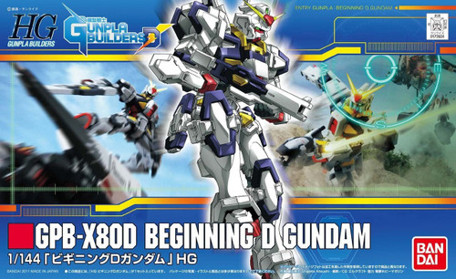 Bandai HG GB 008 GUNDAM GPB-X80D BEGINNING D GUNDAM 1/144 Scale Kit