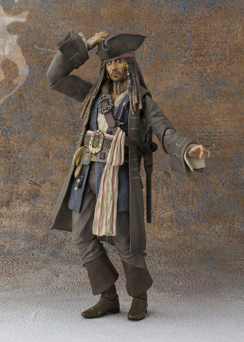 Bandai 147756 S.H. Figuarts Pirates of the Caribbean Captain Jack Sparrow Figure