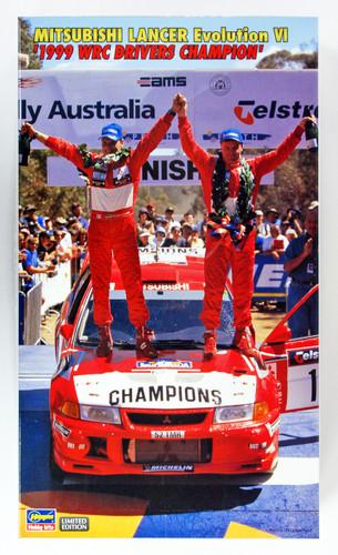Hasegawa 20303 Mitsubishi Lancer Evolution VI 1999 WRC Drivers Champion 1/24 Scale Kit