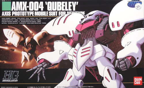 Bandai HGUC 004 Gundam AMX-004 QUBELEY 1/144 Scale Kit
