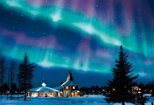 Epoch Jigsaw Puzzle 25-146 Beautiful Scenery Aurora Finland (300 Pieces)