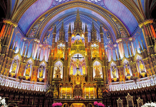 Epoch Jigsaw Puzzle 25-144 Notre-Dame Basilica Montreal Canada (300 Pieces)