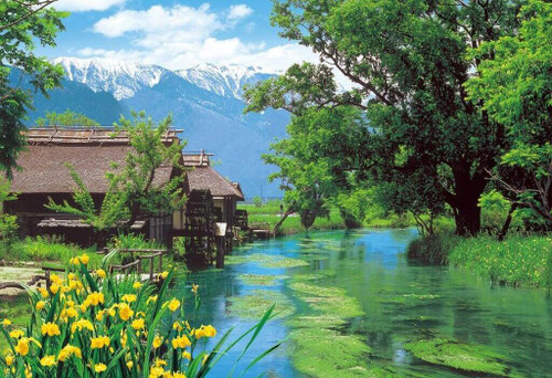 Epoch Jigsaw Puzzle 25-143 Azumino Watermill Nagano Japan (300 Pieces)