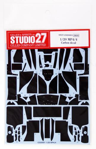 Studio27 ST27-CD20001 MP4/4 Carbon decal for Tamiya 1/20