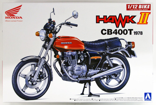 Aoshima 53966 Bike 42 HONDA HAWK II CB400T 1/12 scale kit