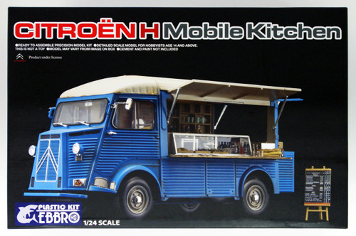 Ebbro 25008 Citroen H mobile kitchen 1/24 Scale Plastic Model Kit