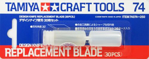 Tamiya 74074 Craft Tools - Design Knife Replacement Blade (30 pcs.)