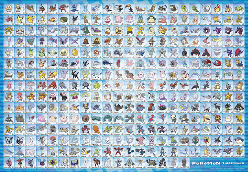 Ensky Jigsaw Puzzle 500T-L12 Pokemon Sun & Moon Alola Pokedex (500 L-Pieces)