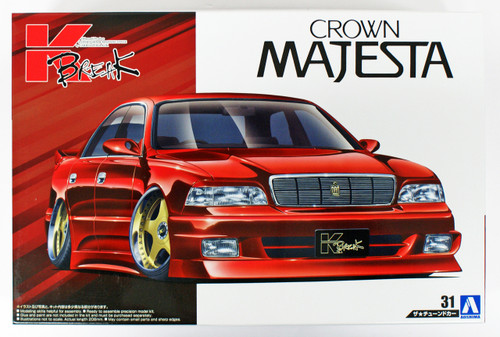 Aoshima 53621 K-BREAK UZS141 MAJESTA '91(TOYOTA) 1/24 scale kit