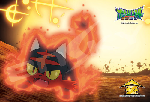 Ensky Jigsaw Puzzle 150-577 Pokemon Sun & Moon Inferno Overdrive Litten Nyabby (150 S-Pieces)