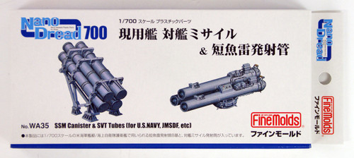Fine Molds WA35 SSM Canister & SVT Tubes for US Navy, JMSDF, etc 1/700 scale