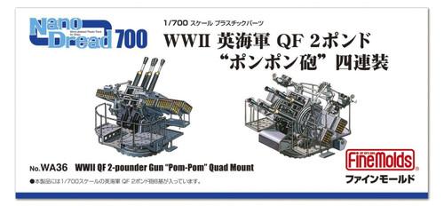 """Fine Molds WA36 WWII QF 2-pounder Gun """"PomPom"""" Quad Mount 1/700 scale"""
