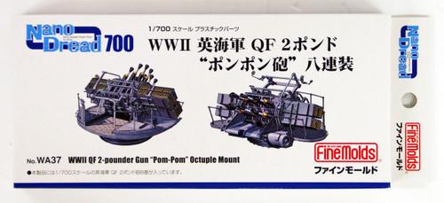 """Fine Molds WA37 WWII QF 2-pounder Gun """"PomPom"""" Octuple Mount 1/700 scale"""