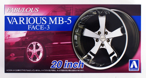 Aoshima 54253 Tuned Parts 61 1/24 FABULOUS VARIOUS MB-5 FACE-3 20 inch Tire & Wheel Set