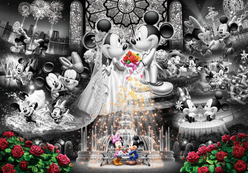 Tenyo Japan Jigsaw Puzzle DF-1000-111 Frost Art Disney Wedding Mickey & Minnie (1000 Pieces)