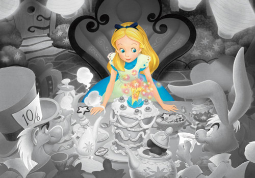 Tenyo Japan Jigsaw Puzzle DFG-500-102 Frost Art Disney Alice in Wonderland (500 Pieces)