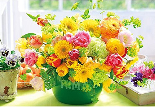 APPLEONE Jigsaw Puzzle 88-104 Beautiful Flowers Citrus Color (88 L-Pieces)
