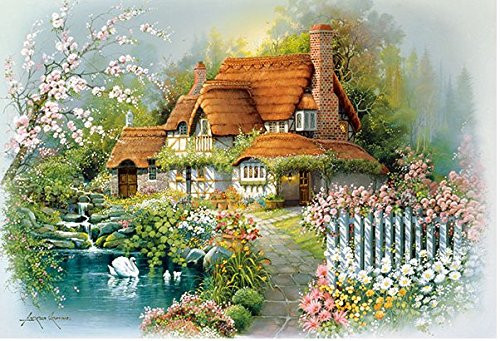 APPLEONE Jigsaw Puzzle 88-101 Art Andres Orpinas Flower Garden (88 L-Pieces)