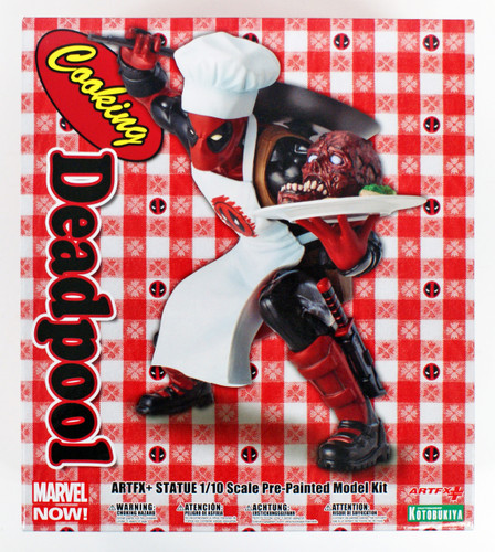 Kotobukiya MK252 ARTFX+ Marvel Universe Cooking Deadpool 1/10 Scale Figure