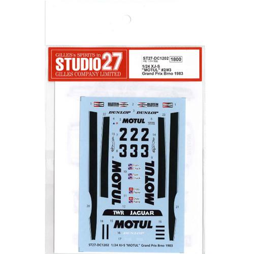 "Studio27 ST27-DC1202 XJ-S ""MOTUL"" Grand Prix Brno 1983 Decal for Hasegawa 1/24"