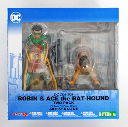 Kotobukiya SV222 ARTFX+ DC Comics Rebirth Super Sons Robin & Bat-Hound 1/10 Scale Set of 2 Figure