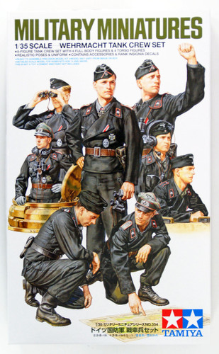Tamiya 35354 Military Miniatures German Wehrmacht Tank Crew Set 1/35 Scale Kit