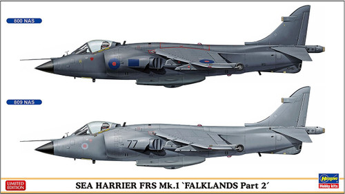"Hasegawa 02253 Sea Harrier FRS Mk.1 ""Falklands Part 2"" 1/72 scale kit"