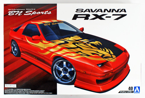 Aoshima 54499 BN SPORTS FC3S RX-7 '89 (MAZDA) 1/24 Scale Kit